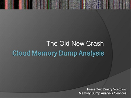 The Old New Crash: Cloud Memory Dump Analysis Logo