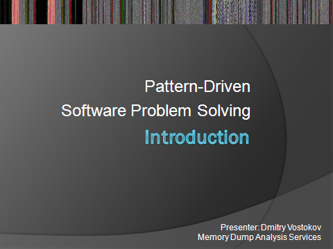 Introduction to Pattern-Driven Software Problem Solving Logo