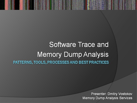 Pattern-Driven Software Trace and Memory Dump Analysis Logo